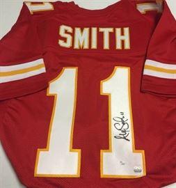 Signed Alex Smith #11 Kansas City Chiefs Red Custo ...