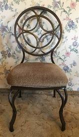 Dining set iron chair close up