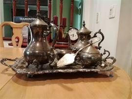 Silver Tea Service with Platter, and more          http://www.ctonlineauctions.com/detail.asp?id=718293