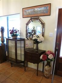 Beautiful Display Cabinet, Accent Table And More!