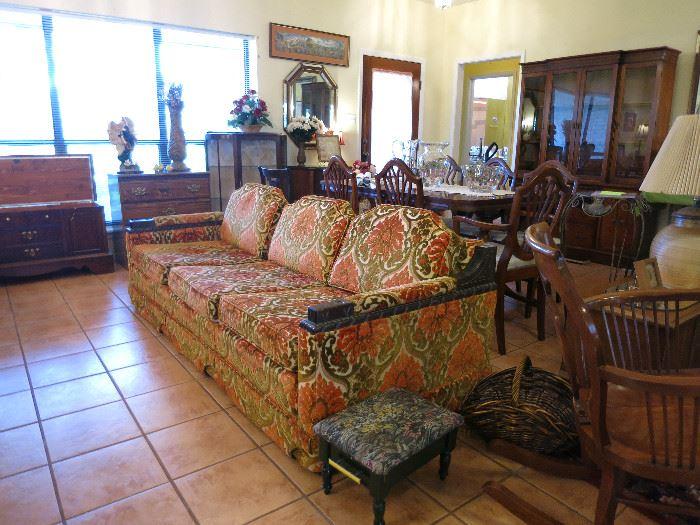 Mid Century Modern Mediterranean Style Couch