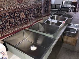 New SS sinks