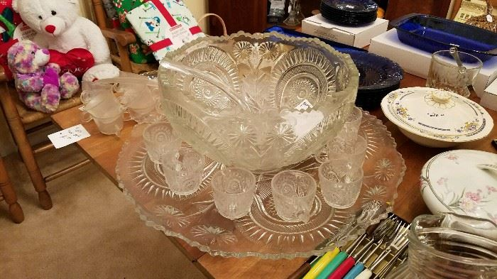 Vintage Punch Bowl Set