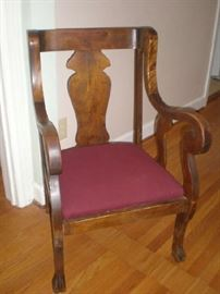 Gorgeous large chair with upholstered seat, was $90, now $60.