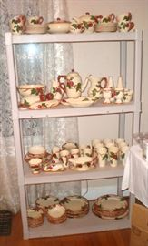 Set of Franciscan Apple dishes with lots of unusual serving pieces, were $400, now $300.