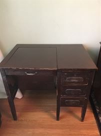 McLeod. 3 drawer desk, with folding feature. Was $150, reduced to $85.