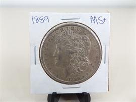 1889 Morgan Silver Dollar MS+