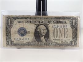 1928-B U.S. Funny Back One Dollar Silver Certificate