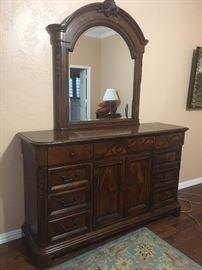 Beautiful Dresser and Mirror by Davis Intl.
