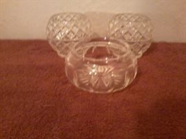 2 Crystal Candle Holders & Glass Candy Dish           http://www.ctonlineauctions.com/detail.asp?id=718913