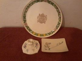 Collector Plate, Candle Stick, Small Plate  http://www.ctonlineauctions.com/detail.asp?id=718925