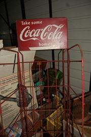 Vintage Coca Cola Coke Store Display Rack