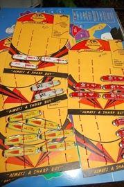 Vintage Pocket Knives on Original Store Displays