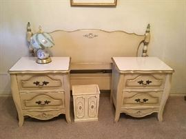 French Provincial Night Stands and Head/Foot Board