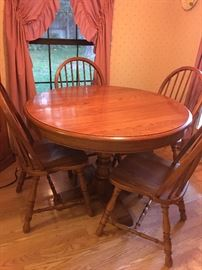 Table (has a leaf) and Four Chairs -- perfect size for small space