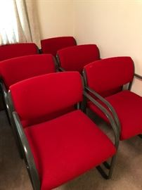 Set of Six STEEL CASE CHAIRS