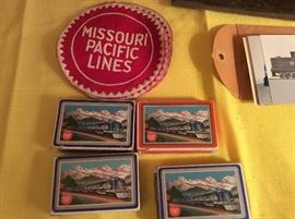 Playing cards to patches from Missouri pacific railroad