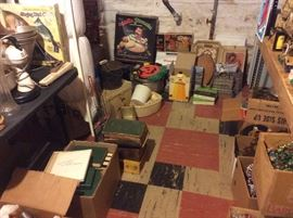 Old books and vintage cookware