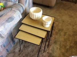 Super cool retro nesting tables