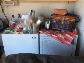 Picnic supplies, picnic basket