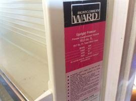 Freezer, Montgomery Wards