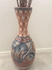 Three foot tall vintage Tonala vase, oh my!
