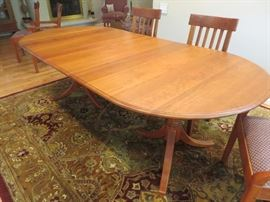 "Oval Table (two 20"" leaves)   Solid Cherry - Natural Finish"