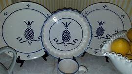Pineapple design plates