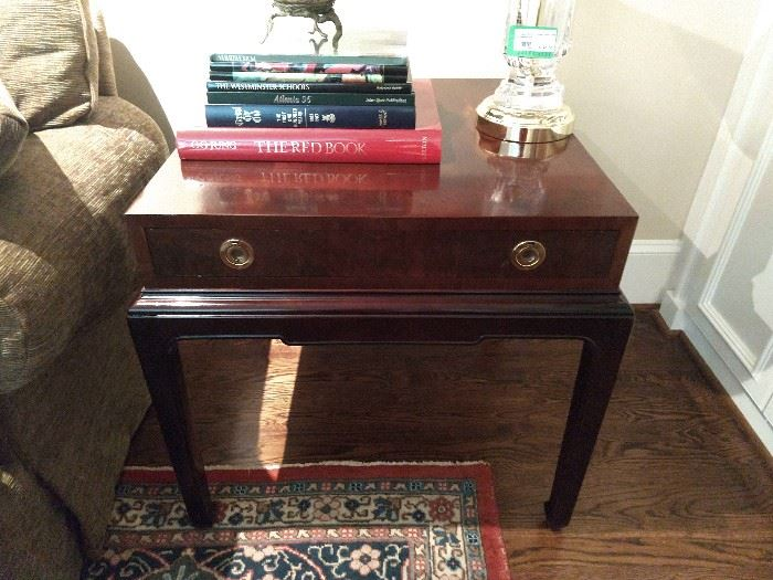 Vintage Henredon side table, with Asian influences.