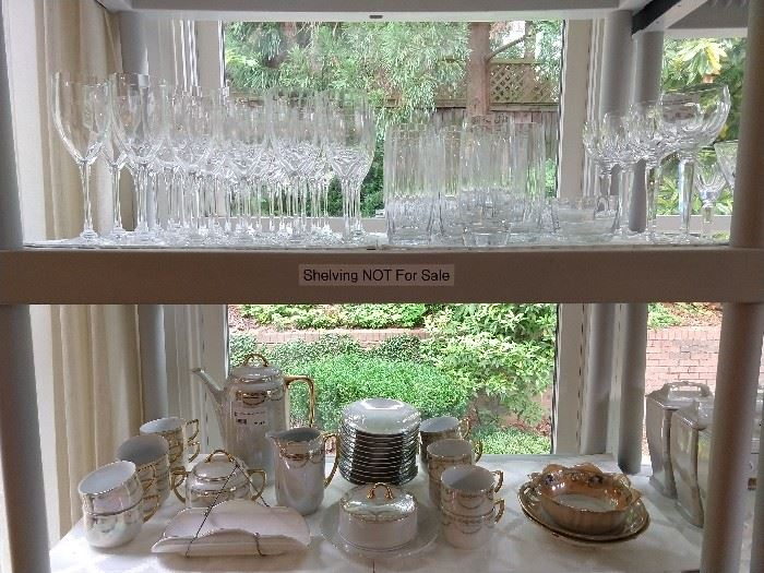 "Entire set of Orrefors Optica ""Symphony"" stemware:                                                              -13, water glasses                                                                                                 -16, white wines                                                                                                              -8, red wines"