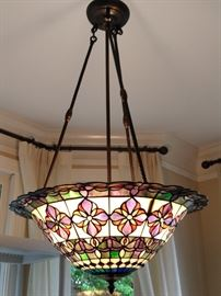 Dale Tiffany stained glass light fixture, above the breakfast room table - nice!