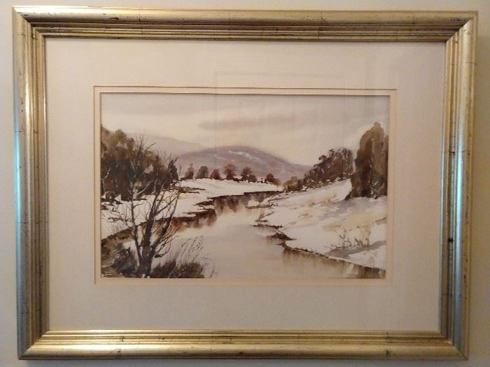 Original watercolor nicely framed/matted, by Lynn Llewellyn Davies, 1988.