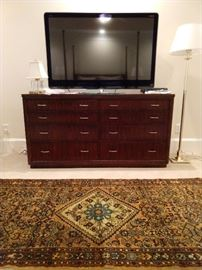 "Handsome 8-drawer Bernhardt dresser, with Sharp LC-52LE920UN 52"" Internet-ready 1080p LED-LCD HDTV with built-in Wi-Fi.                                                           New, cost is 3,500.00."