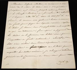 LOT #5020 - NAPOLEON SIGNED LETTER, DATED MAY 1815