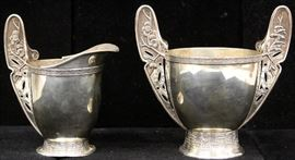 LOT #5041 - PAIR OF TIFFANY & CO. STERLING SILVER CREAM/SUGAR