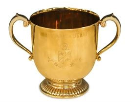 LOT #5074 - 1958 SANTA ANITA SILKY SULLIVAN TROPHY, 14KT GOLD, 1387 GRAMS
