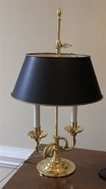 heavy, fine quality Baldwin brass bouillotte lamp