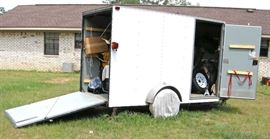 Available for pre-sale: 2009 5'x10' Elite Trailer aluminum box trailer, single axle, V-nose, ramp and side door