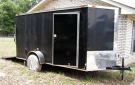 Available for pre-sale: 2012 6'x12' Bendron Titan aluminum box trailer, single axle, V-nose, ramp and side door