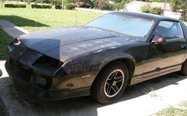 Available for pre-sale: Black 1989 Camaro RS, 2-door hatchback, 3 L V6; email earlybirdes@gmail.com