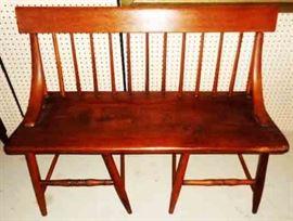 Antique, Single Plank Hall Seat