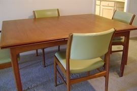 Without the leaves the table measures 60 inches by 42.