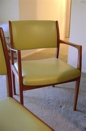 Scandinavian designed teak dining arm chair.  One of 2. Perfect condition!