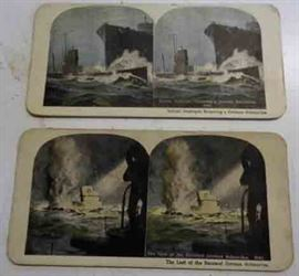 Antique Stereopticon Cards- WWI Military