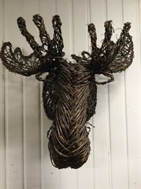 Grapevine Moose Wall Hangings