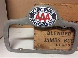 Vtg AAA Oregon State Motor Assoc Plate