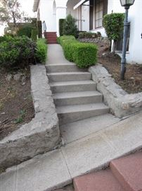 In addition to the steep driveway, there are two more sets of stairs to negotiate.  Be careful in and around the property.  We are not responsible for injuries or accidents.