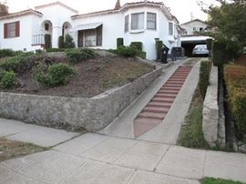 You should know there is a steep driveway leading to the front door.