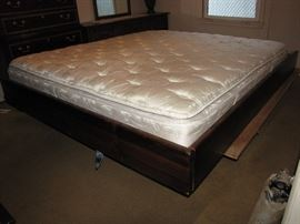 Here is a look at the queen-sized bedframe.  It was partially disassembled to perform maintenance on the window.