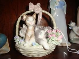 Kitten basket, Lladro